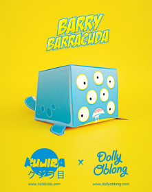 Barry Barracuda: il papertoy custom di Kujira, la creatura di Nick Knite