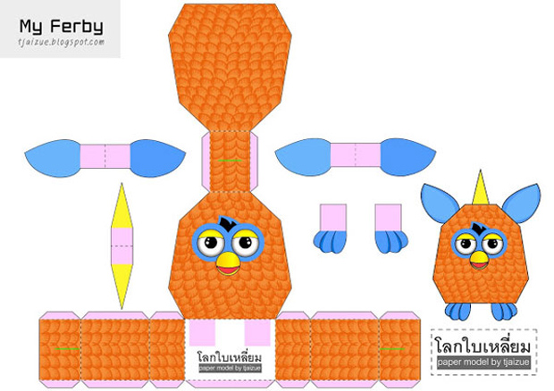 furby-papertoy