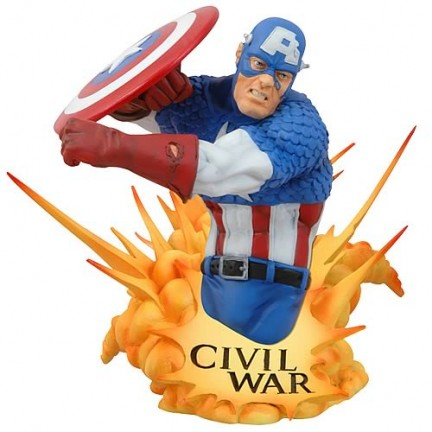civil war marvel busto capitan america