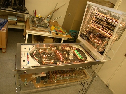 flipper trasparente Visible Pinball Machine