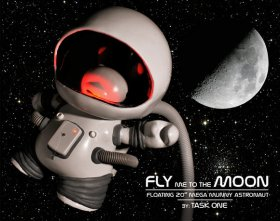 Custom Toys: Fly Me To The Moon by Task One