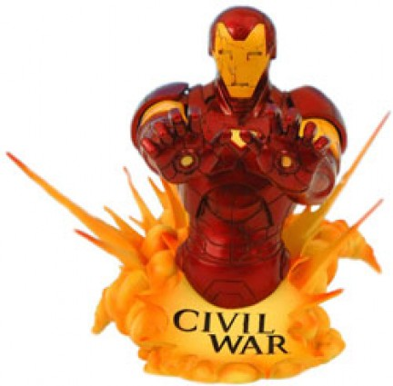 civil war marvel busto ironman