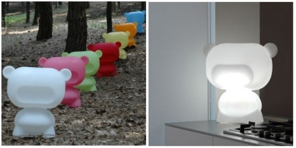 Art toy lamp: Pure l'orsetto