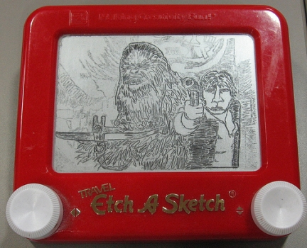 lavagna magica The Etch-A-Sketchist star wars han solo chewbecca