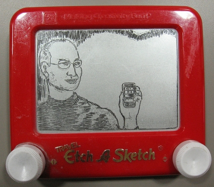 lavagna magica The Etch-A-Sketchist iphone steve jobs