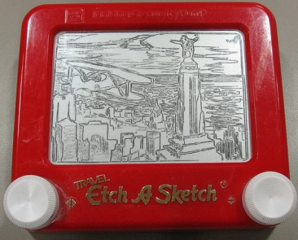 lavagna magica The Etch-A-Sketchist king kong