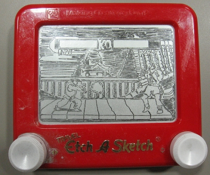 lavagna magica The Etch-A-Sketchist street fighter