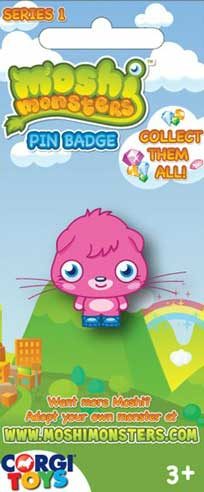 Moshi Monsters: la prima serie di spillette
