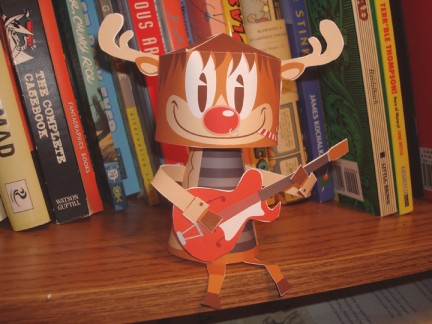 rudy renna babbo natale paper toy