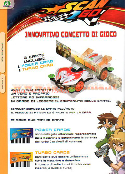 Scan 2 Go: Turbo e Power Cards, auto e piste dal cartone animato