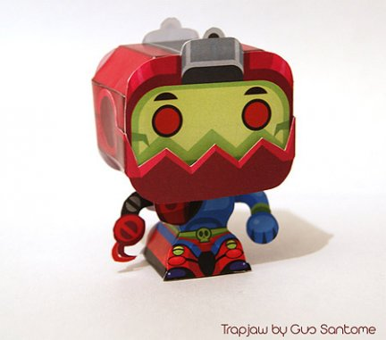 Masters of the Universe: Trap Jaw, il papercraft