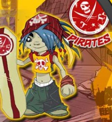 trick power Skateboard pirates