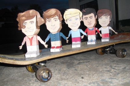 one direction paper toys