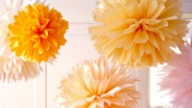 Decorazioni i pom pom da appendere al soffitto for Decorazioni da soffitto