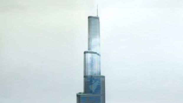La trump tower di chicago costruita coi lego alta 3 for Porta alta 3 metri