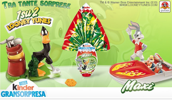 uova kinder looney tunes