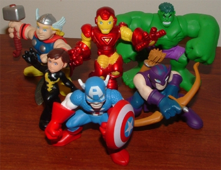 vendicatori marvel superhero squad hasbro