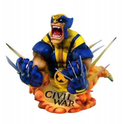 civil war marvel busto wolverine